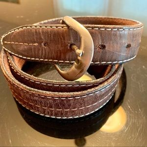Other - Leather belt, brown
